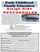 ECFE Sleigh Ride - March 17, 2017 (new date)