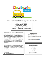 Kindergarten Roundup is on it's way!