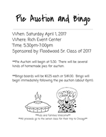 Senior Pie Auction & Bingo