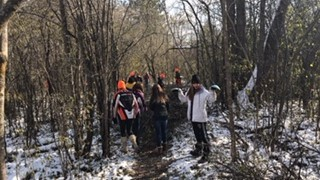 CCM and FLoodwood Students Clear Buckthorn Out of School Forest