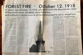 100 Year Anniversary of the Fires of 1918 in Minnesota