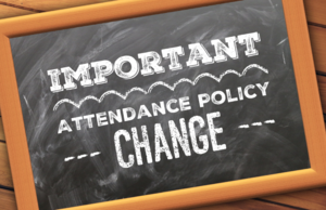 Attendance Policy Change Notice